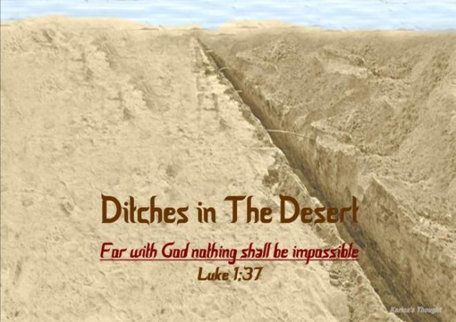 DITCHES IN THE DESERT -Karina's Thought