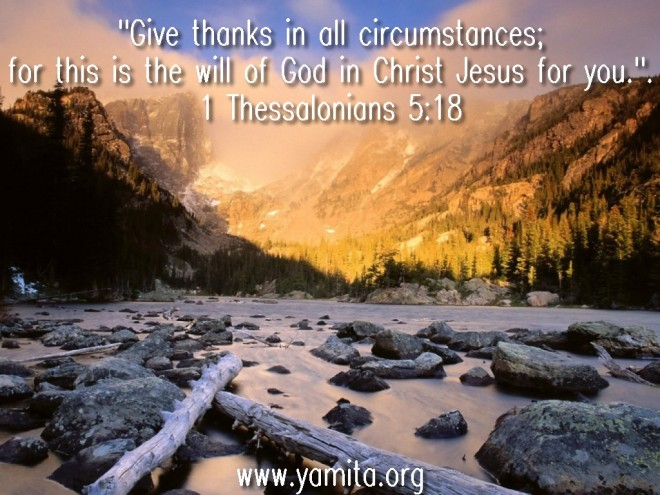 1 Thessalonians 5,18