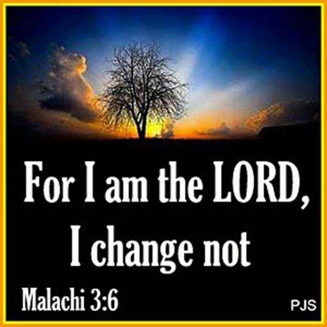 Malachi 3,6