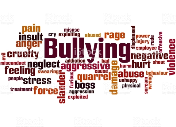 Bullying, word cloud concept on white background.