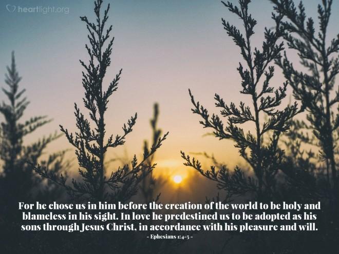 Eph 1,4,5 Chosen