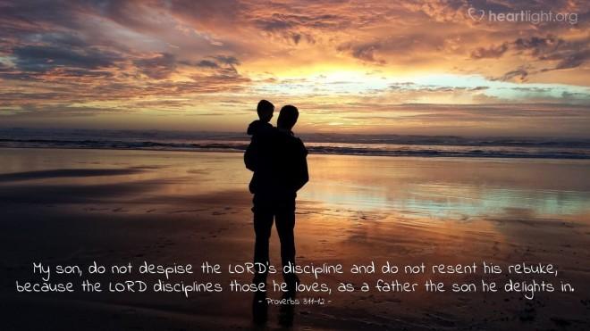 Proverbs 3_11,12