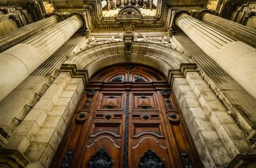Closed Church Door