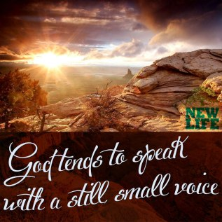 God Speaks In a Quiet Voice