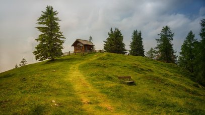 Cabin on a hill