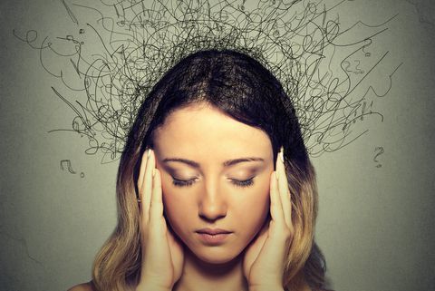 Anxiety woman