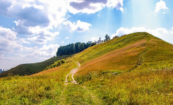 Path on a hill