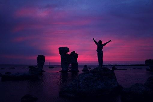 Praise God on a rock