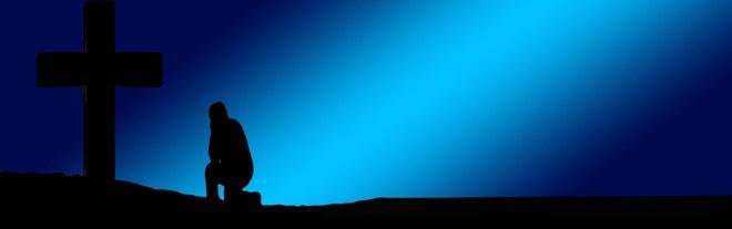kneel before the cross