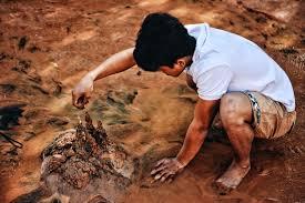Boy with mud