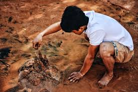 Boy with mud