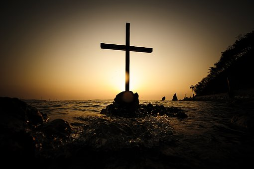 Cross on a beach