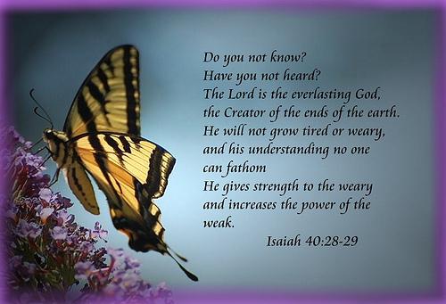Isaiah 40_28-29
