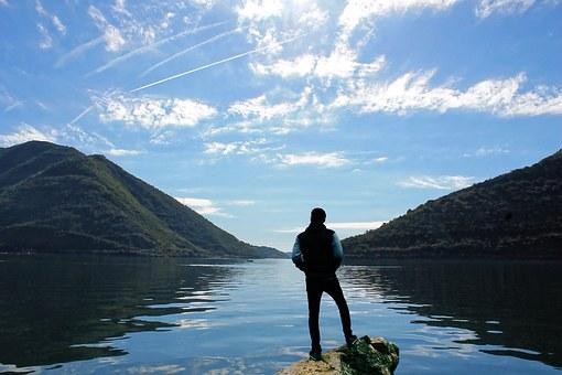 Scene on a lake