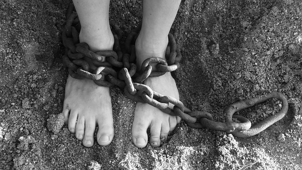 Chains on feet