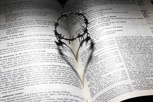 Cross heart on bible