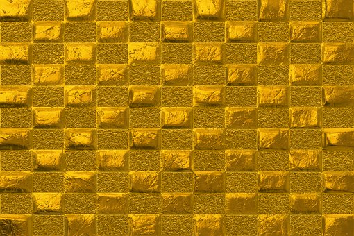 Gold covered wall