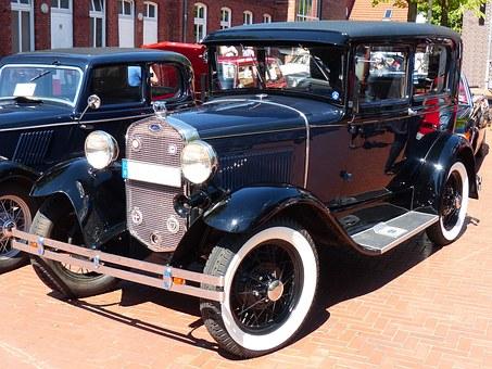 Restored Model A car