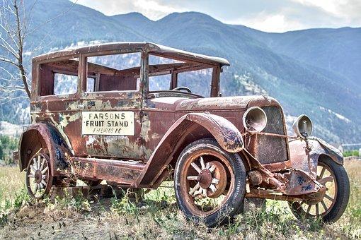 Rusty model A car