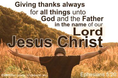Ephesians 5+20