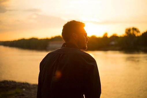 Guy at sunset