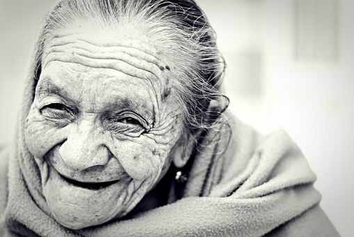 Joyful older woman