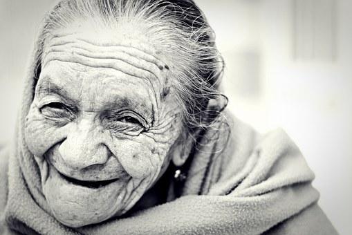 Joyful older woman