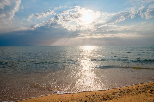 Tropical sunset sea