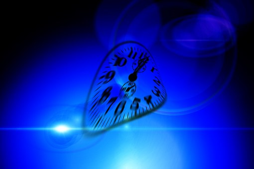 Warped clock face