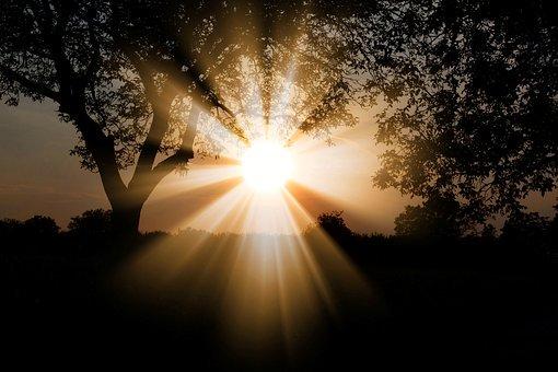 Sun dawn bright