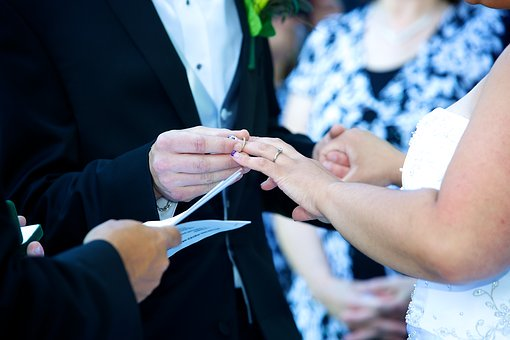 Wedding vows with ring