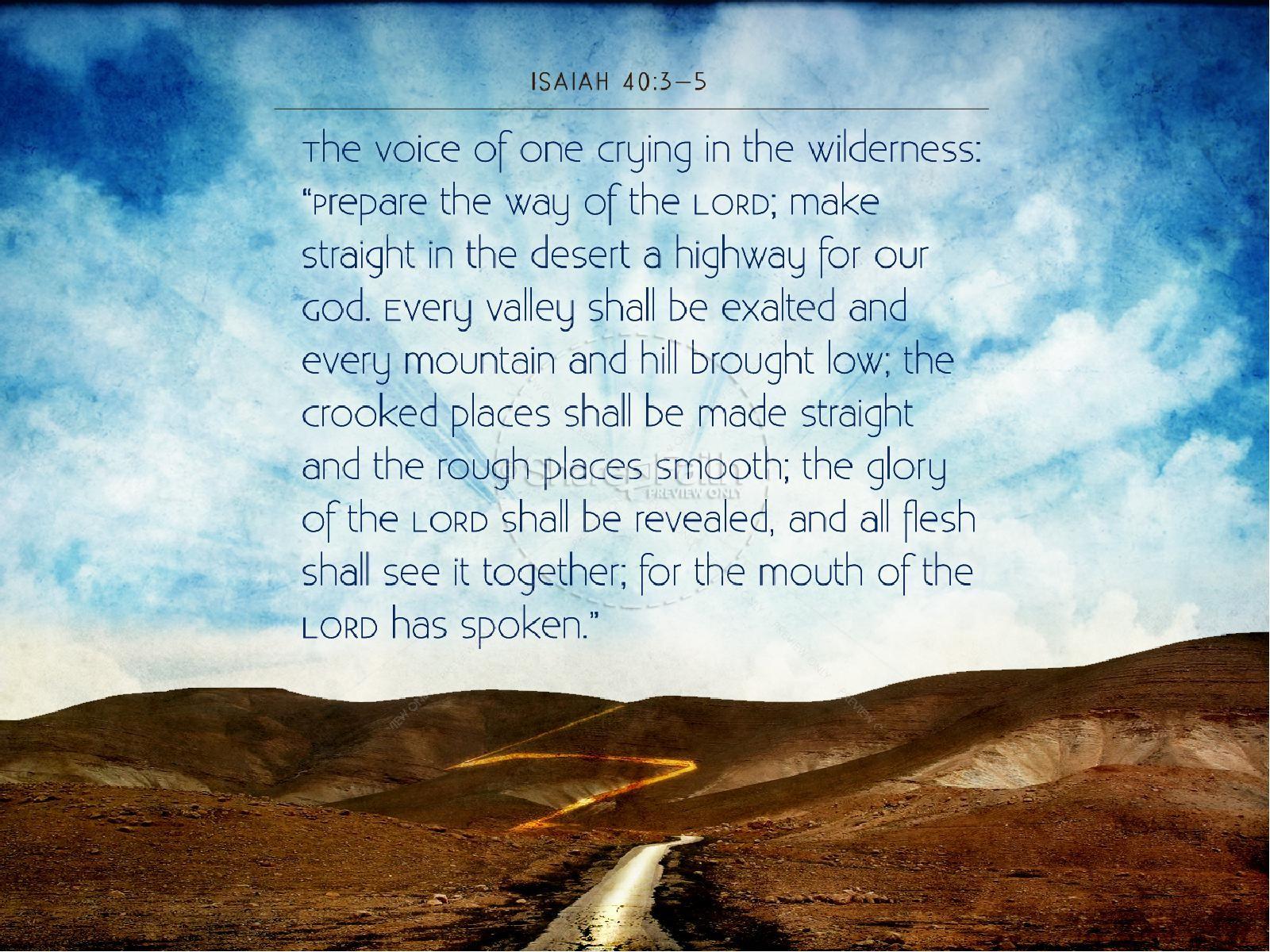Isaiah 40_3-5