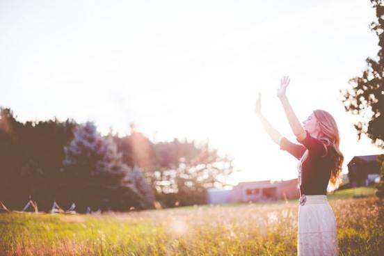 Praising God in a field