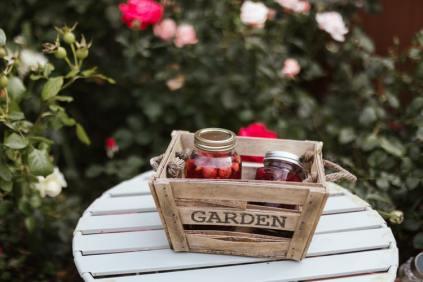 Preserved fruit in jars