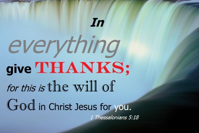 1 Thessalonians 5+18