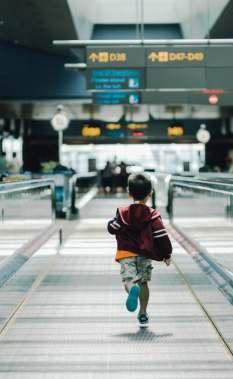 Child walking forward