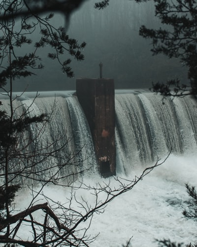 Dam overflowing