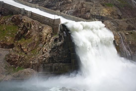 Flooding dam