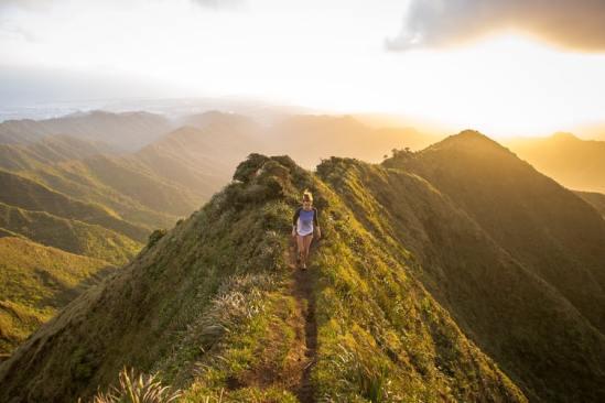 Narrow path mountain