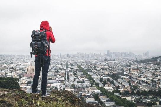 Overlook a city