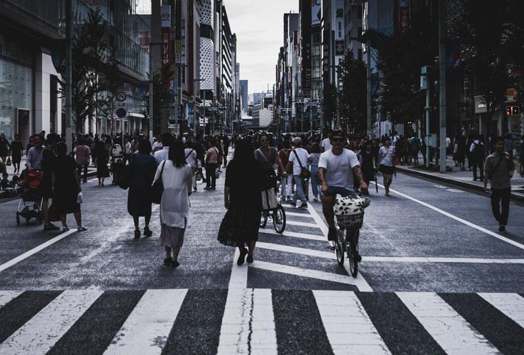 People on a street