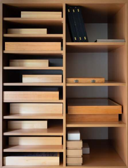 Shelves of boxes