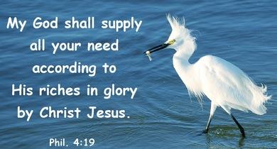 Philippians 4+19