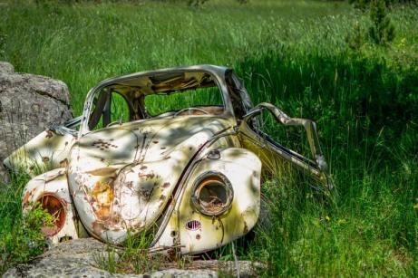 Abandoned volkswagon