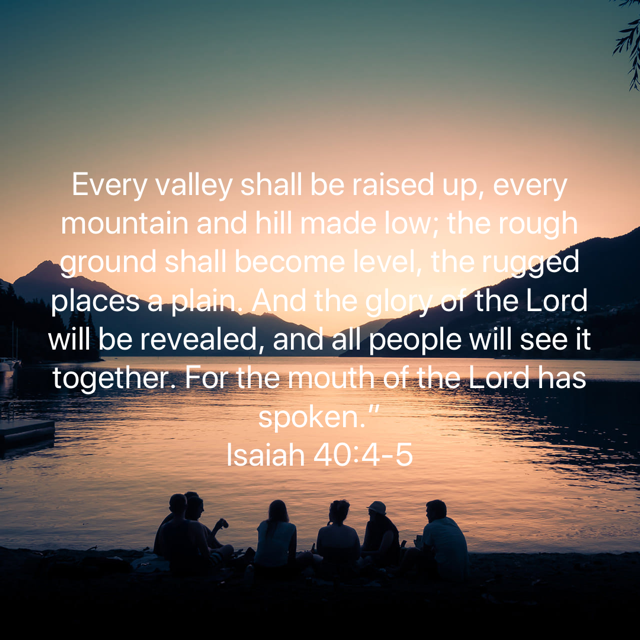 Isaiah 40_4-5