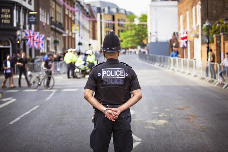 Policeman watching