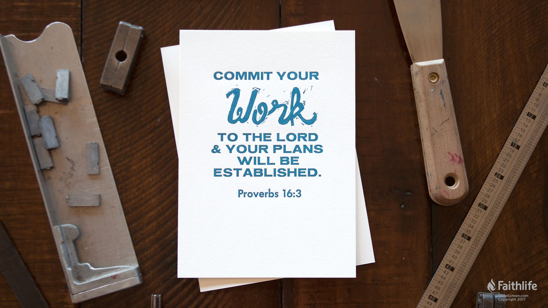 Proverbs 16+3