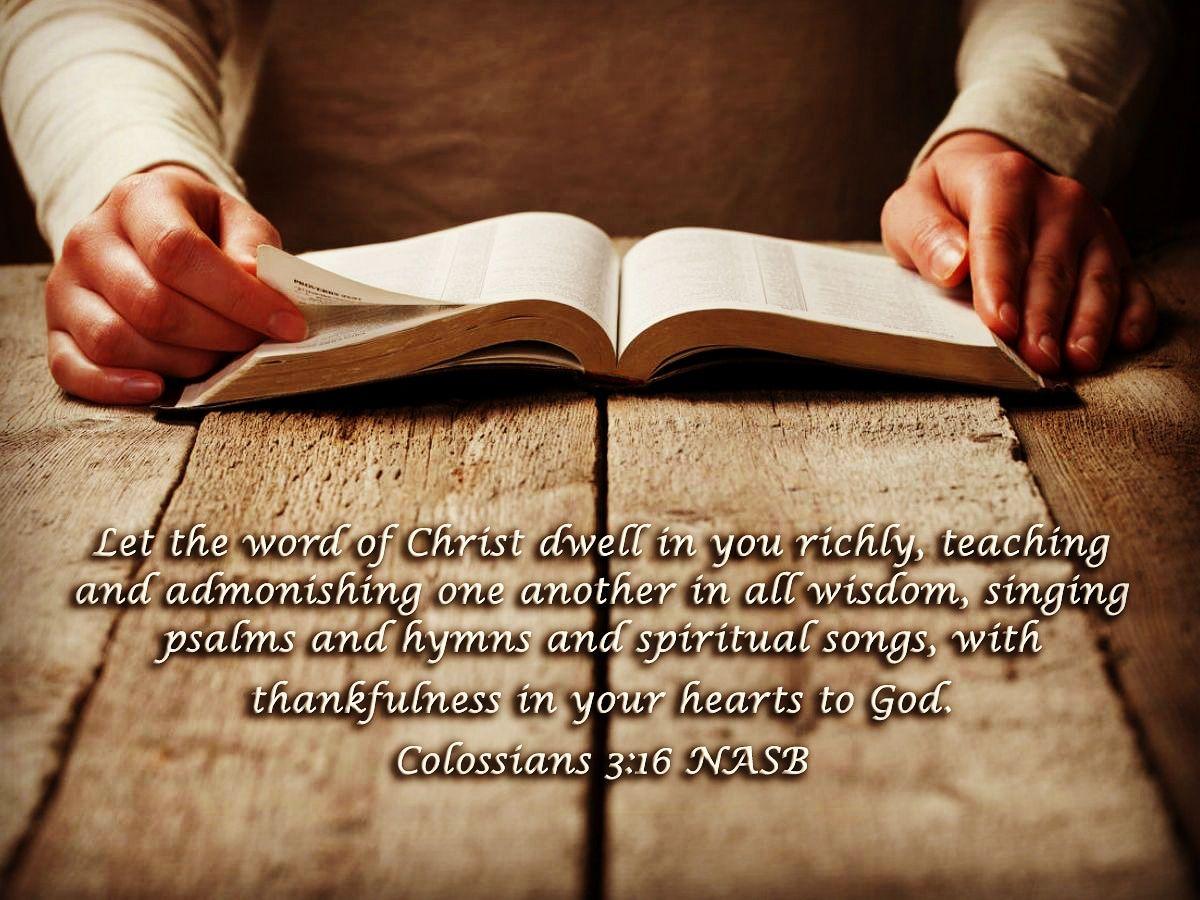 Colossians 3+16