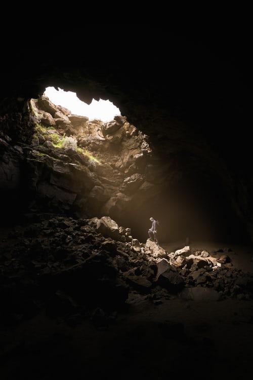 Inside a pit
