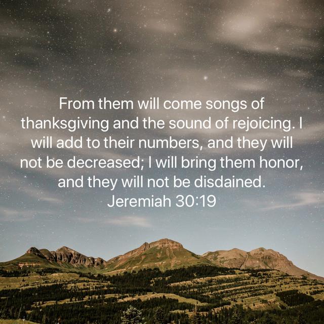 Jeremiah 30-19